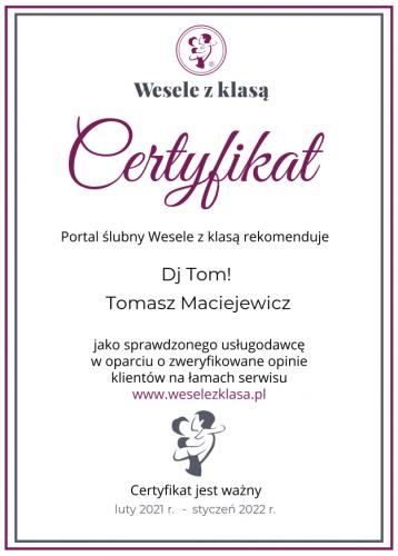 certyfikat 2021